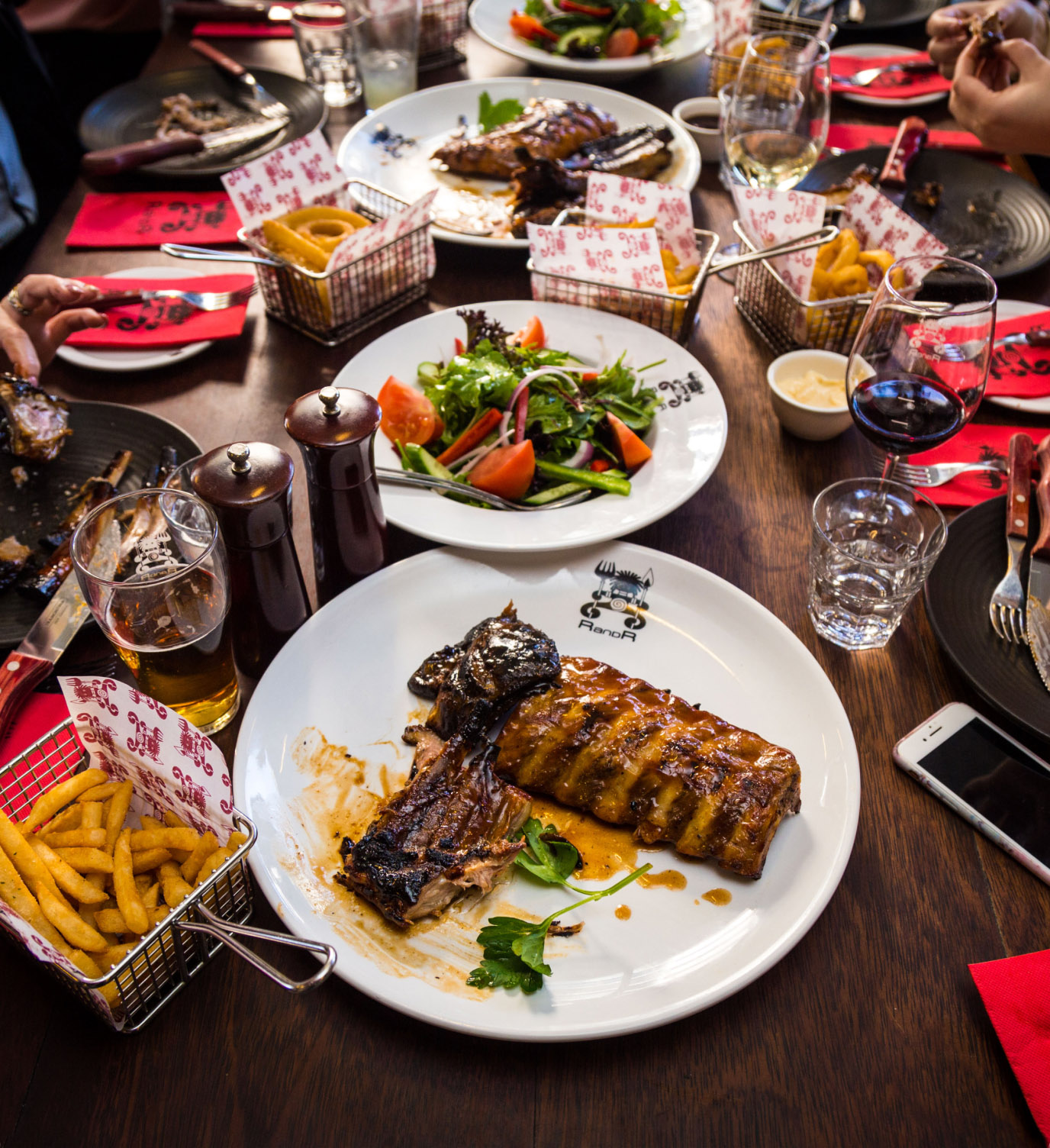 Get the whole gang together, and share a whole table of mouth watering food from Ribs and Rumps.