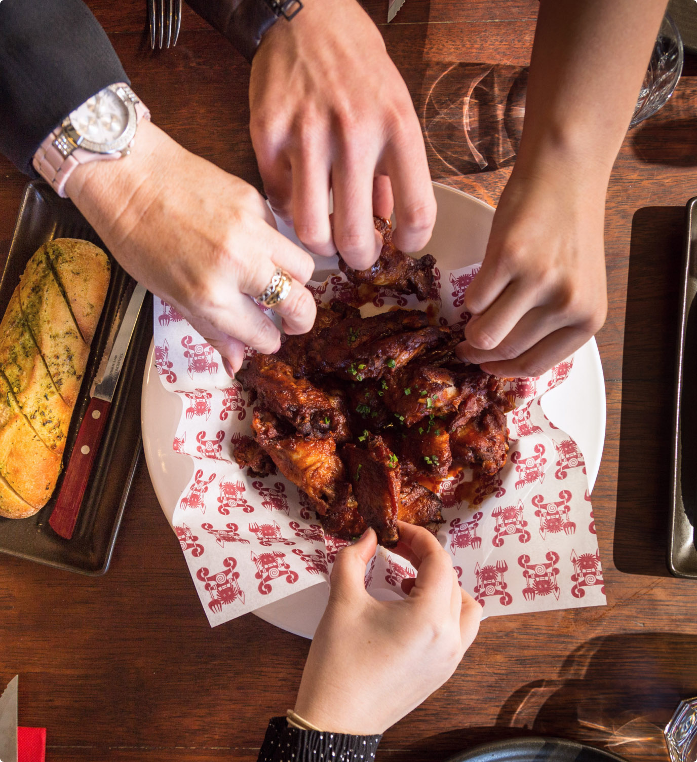 Wings for sharing, everyone gets a bit of that amazing flavour. The good stuff.